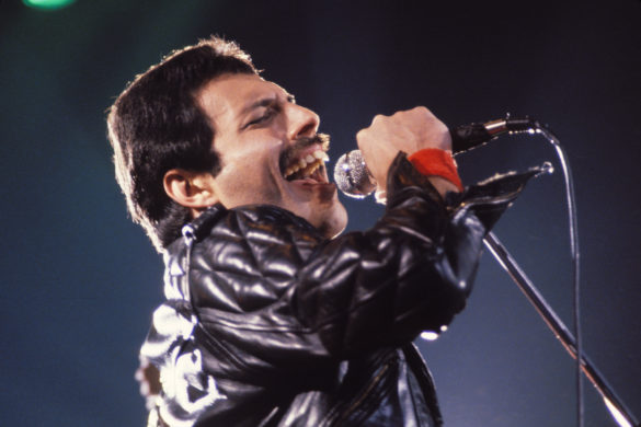 "Freddie Mercury of Queen on ""Jazz Tour 1980"" (Photo by Steve Jennings/WireImage)"